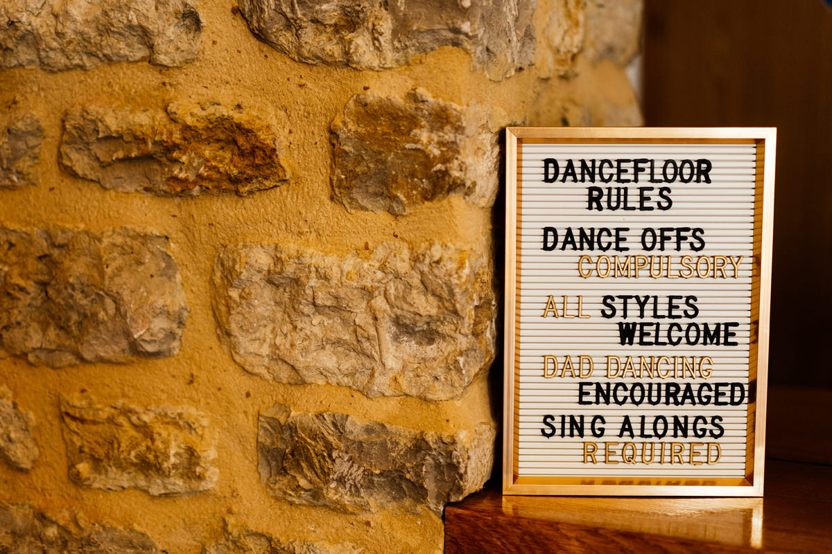 Dance floor signage