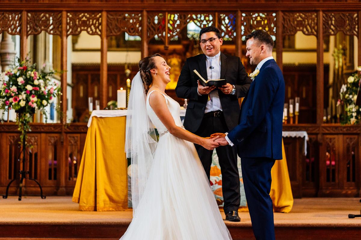 wedding ceremony in Buckingham church