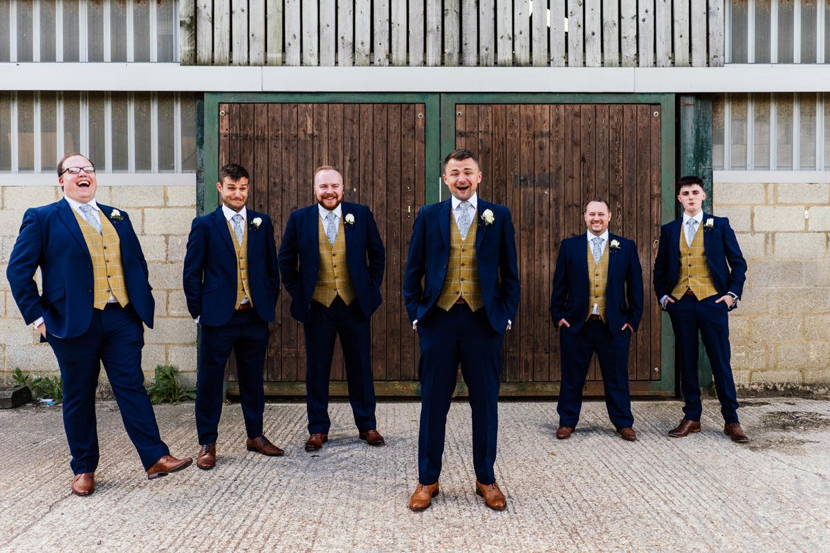 groom and his groomsmen group photo