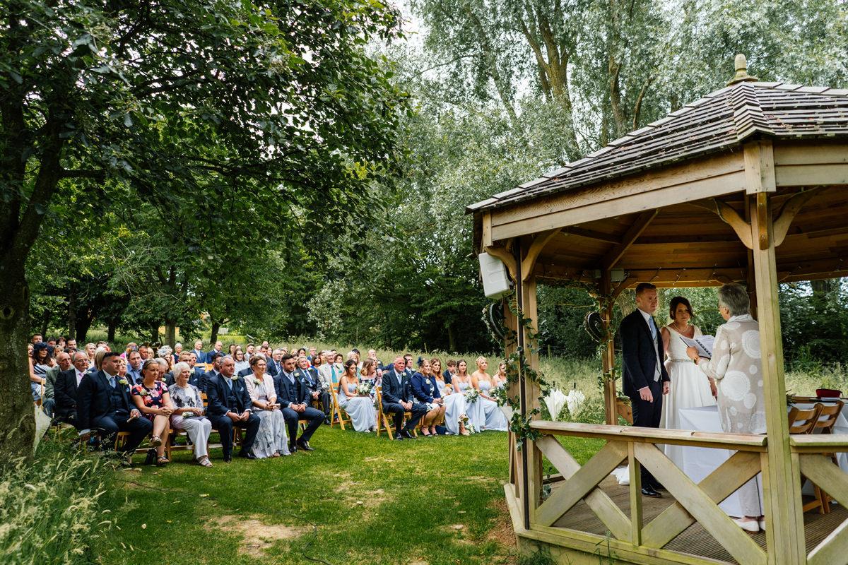 Crockwell Farm outdoor wedding ceremony