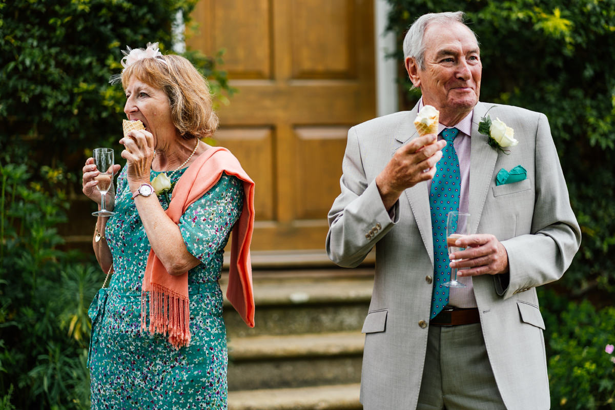 guests enjoying ice creams during the drinks reception