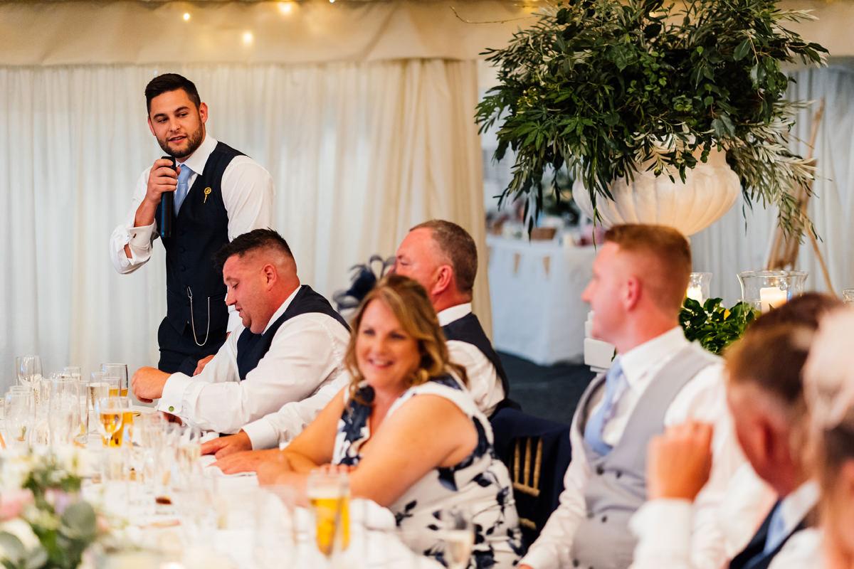 best man giving his speech