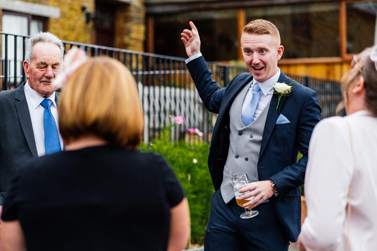 groom candid photo