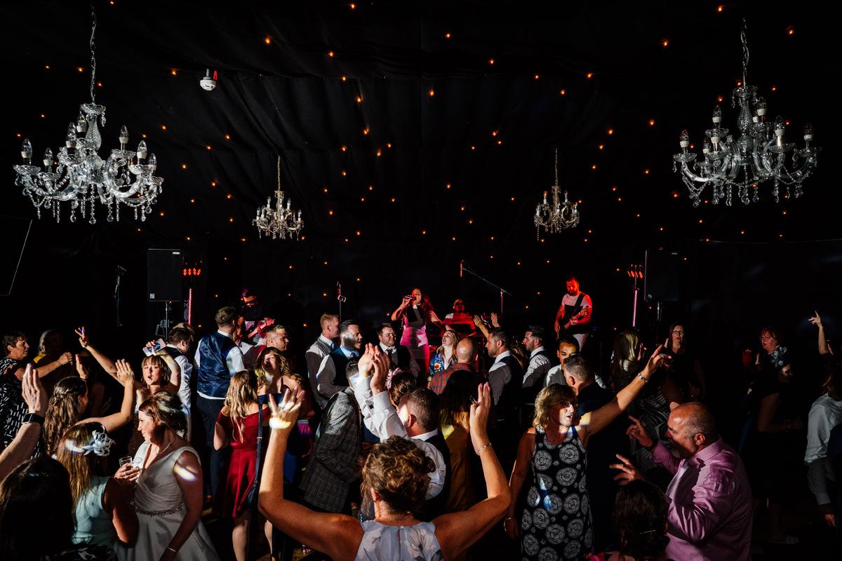 filled dance floor at crockwell farm