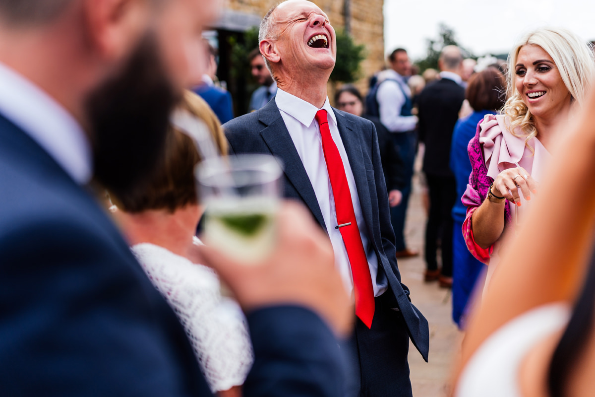 guest laughing