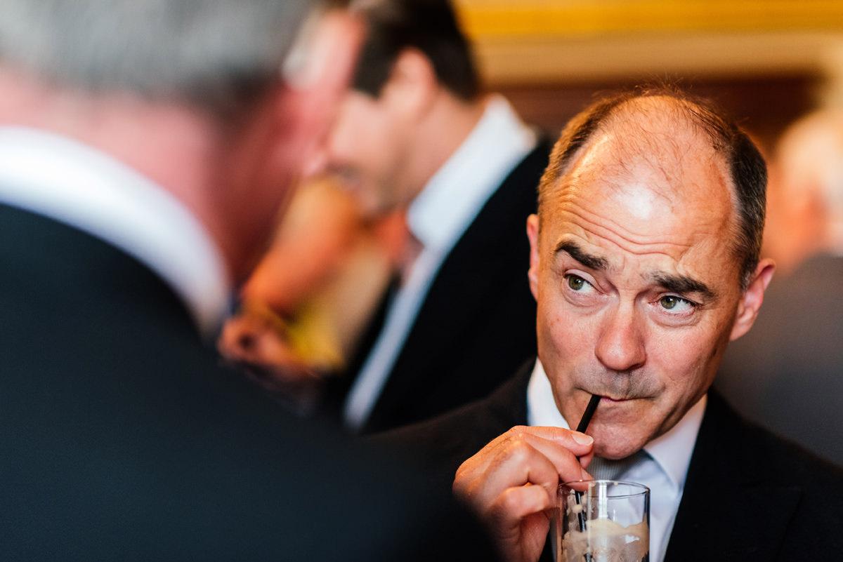gentleman enjoying a drink