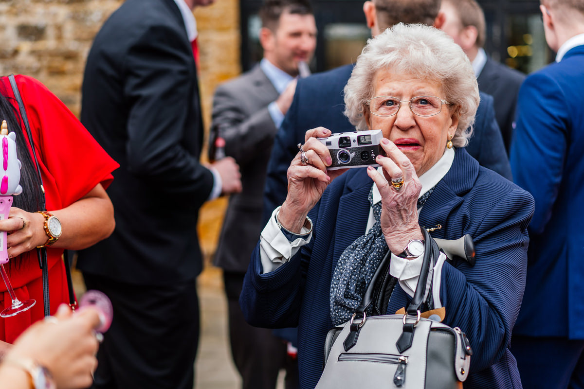 gran getting a photo
