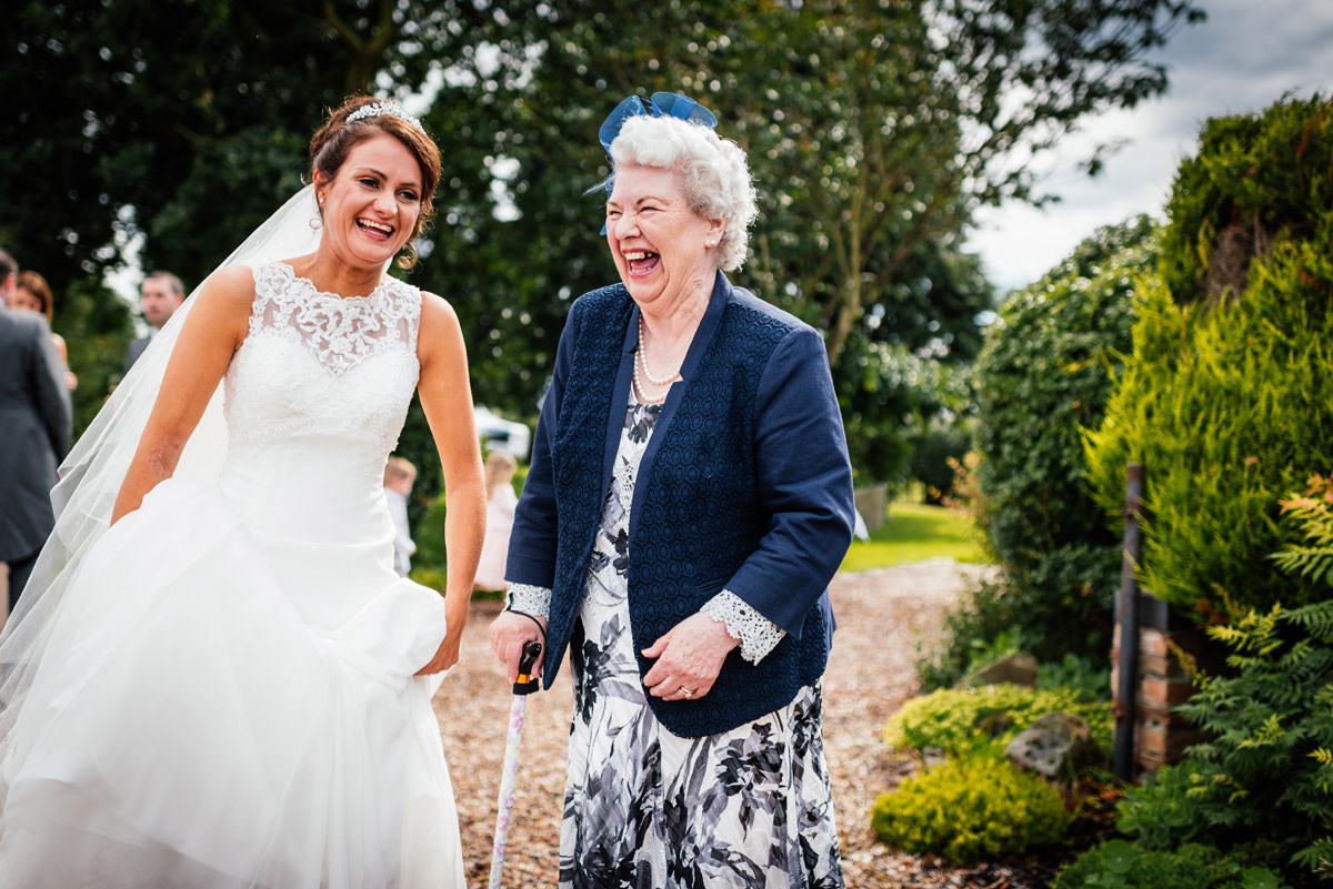 bride and grandparent