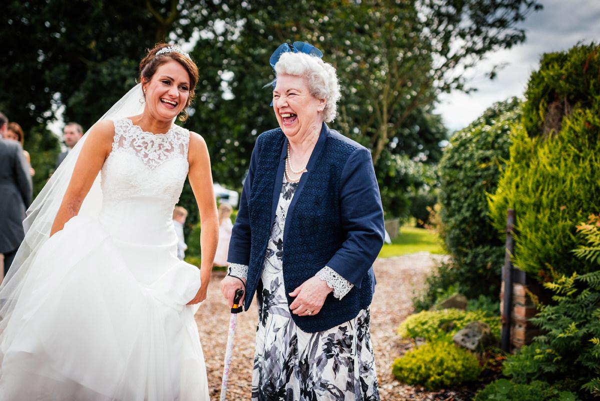 bride and grandparent