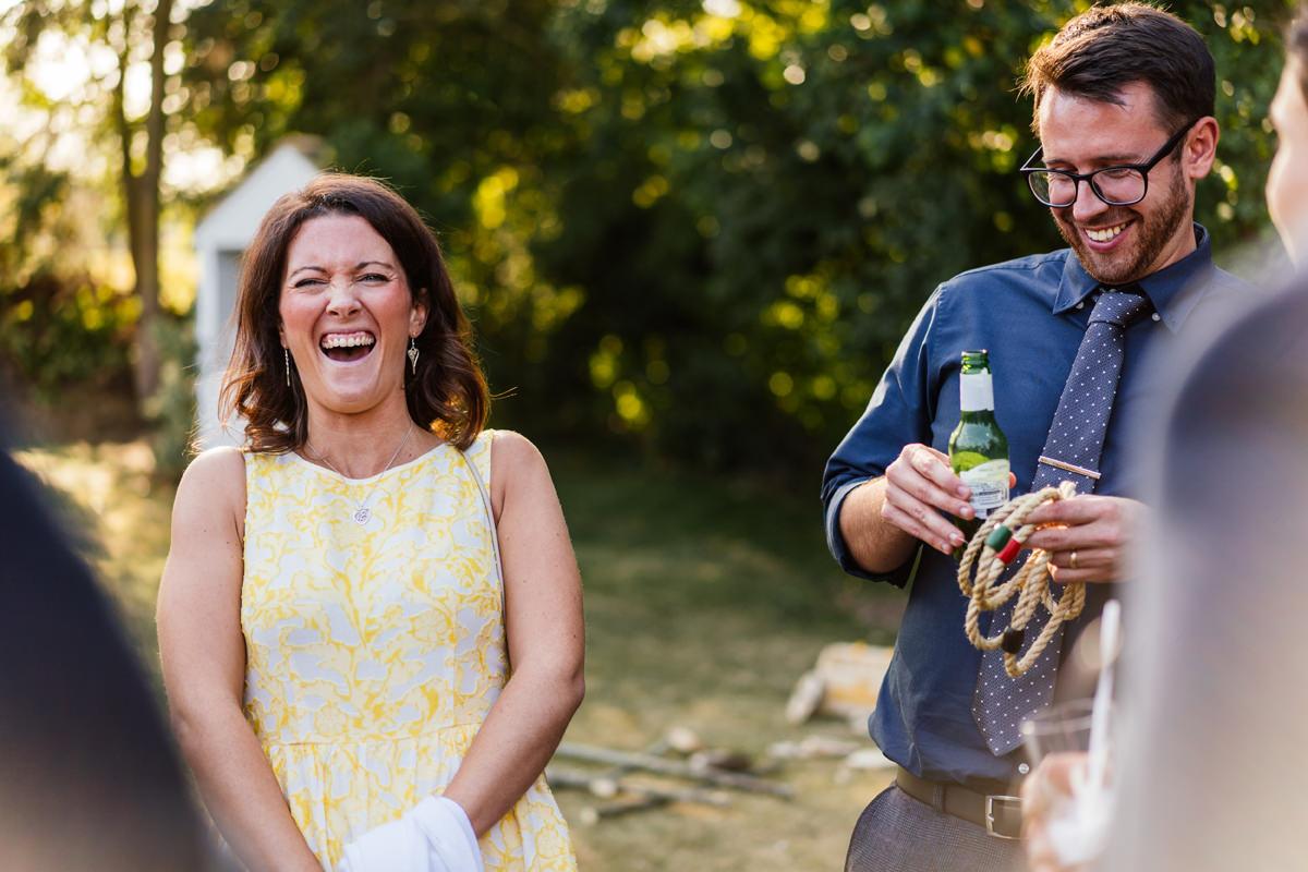 drinks reception smiles