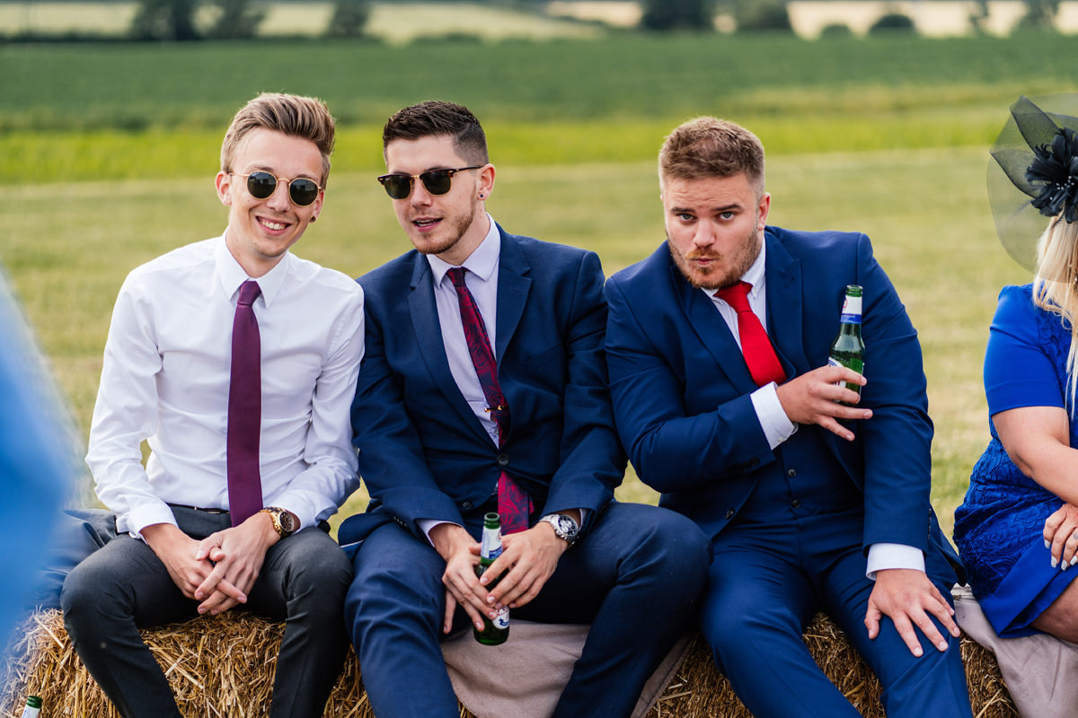 the lads having a beer or two