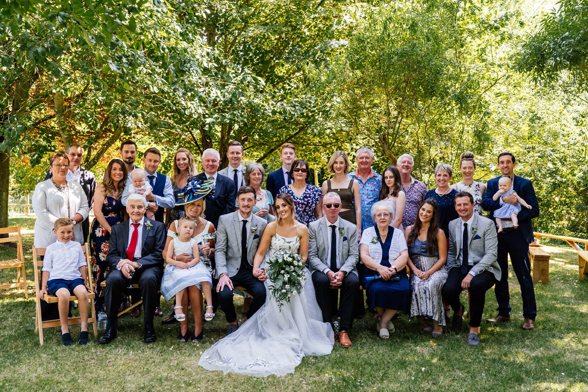 fun formal family wedding group photo
