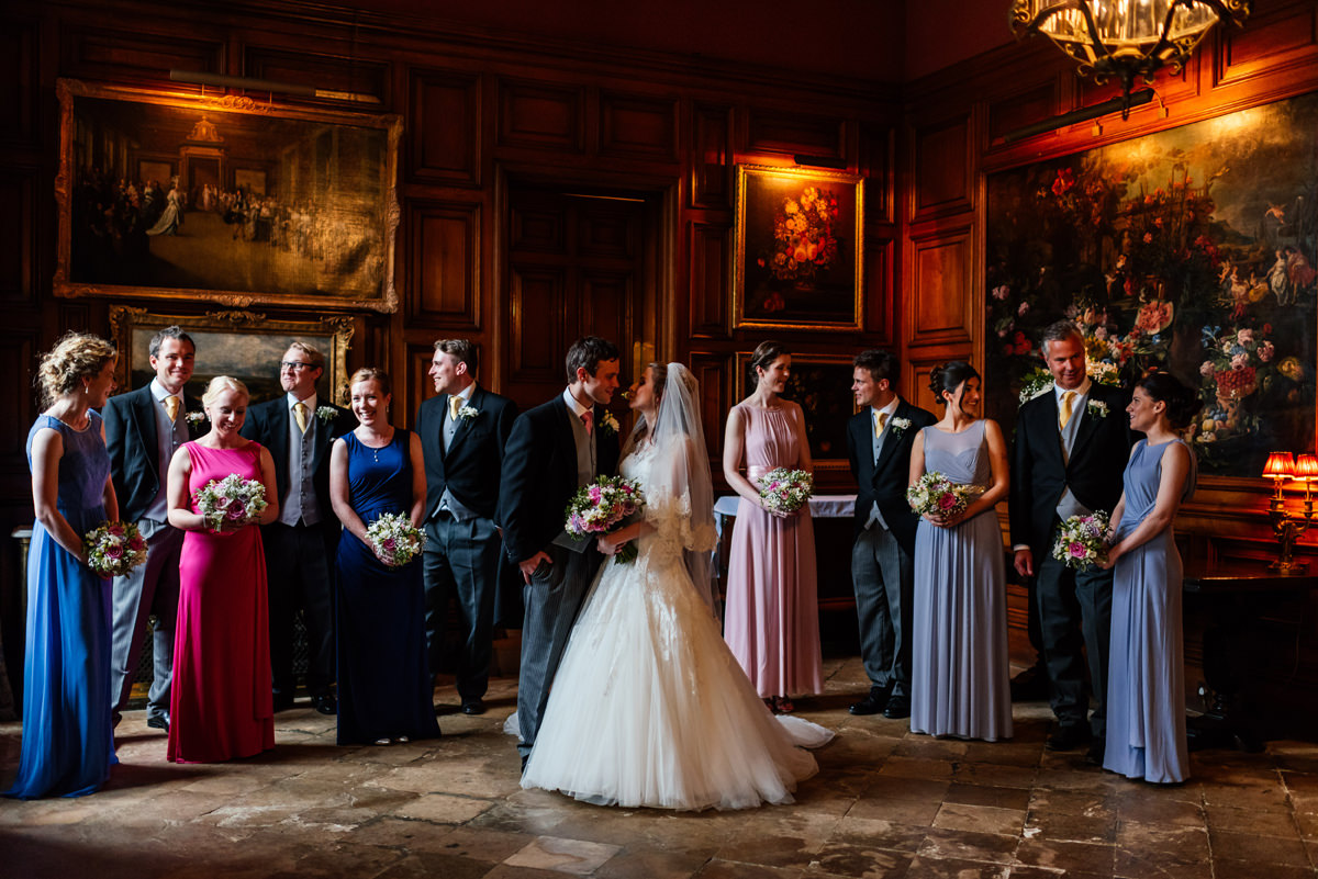 Wedding Group Photos at Holdenby House