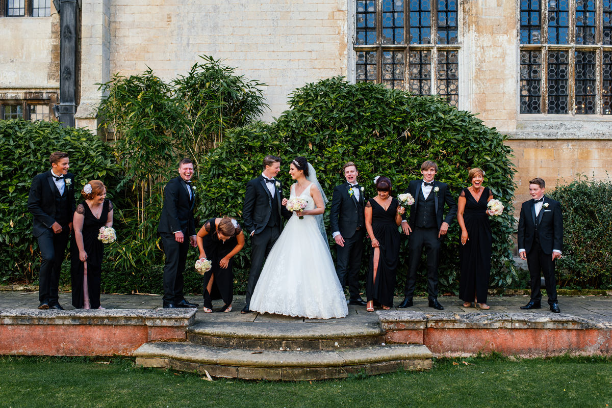 Wedding Group Photos at Rushton Hall Northamptonshire