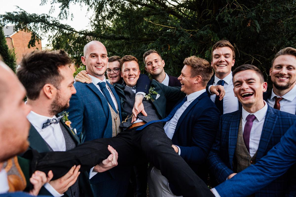 wedding day lads group photo