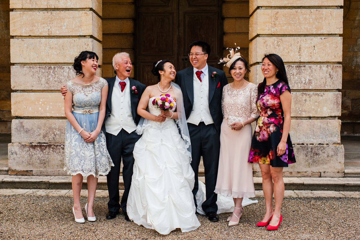 Wedding Group Photos at Boughton House