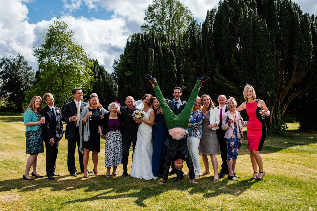Fun Family Group photos on a wedding day
