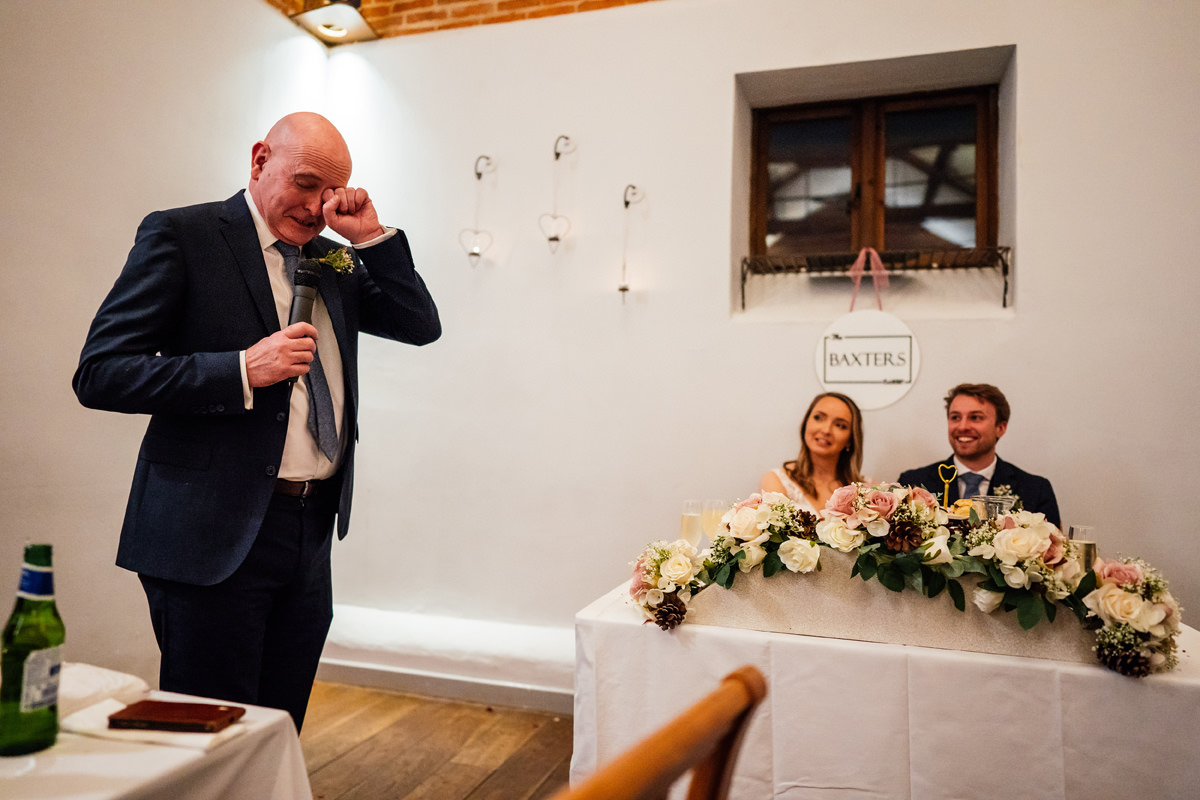 father bride gives his speech