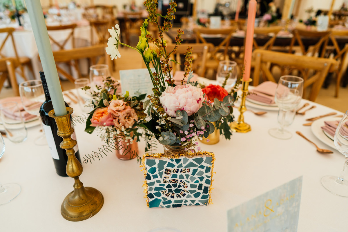 Table details for jewish wedding