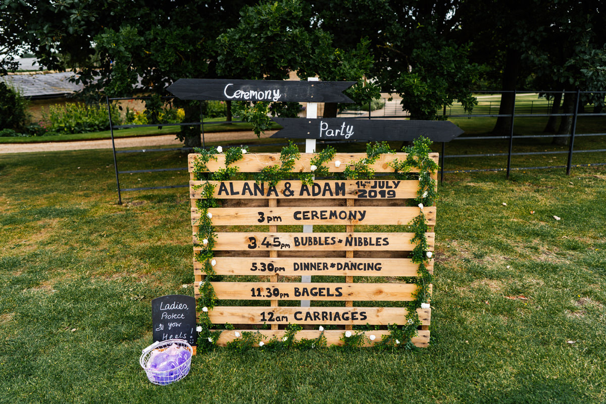 wedding day plan details