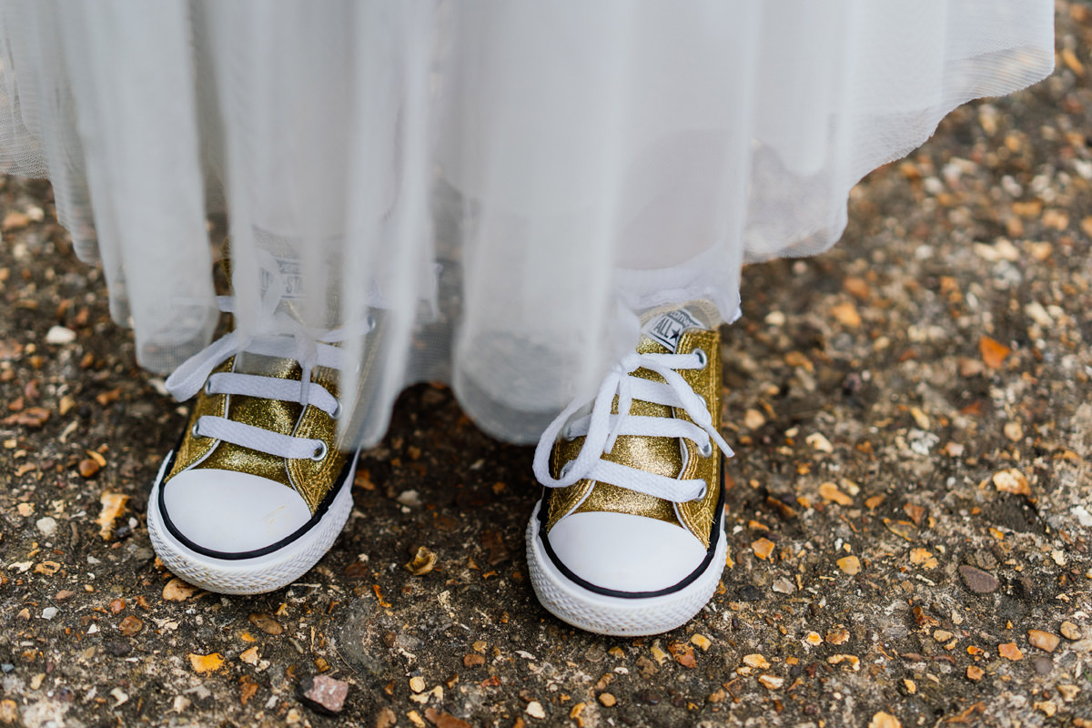 flower girl converse trainers