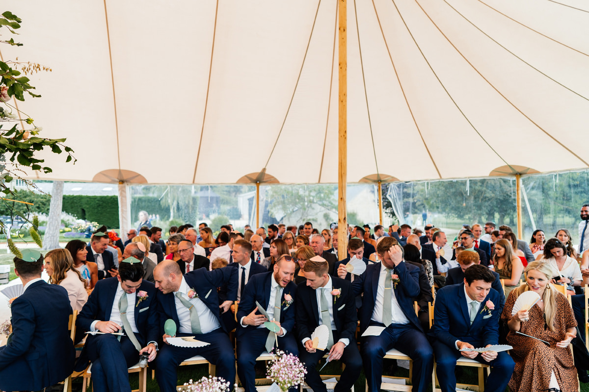 guests waiting for the ceremony to start