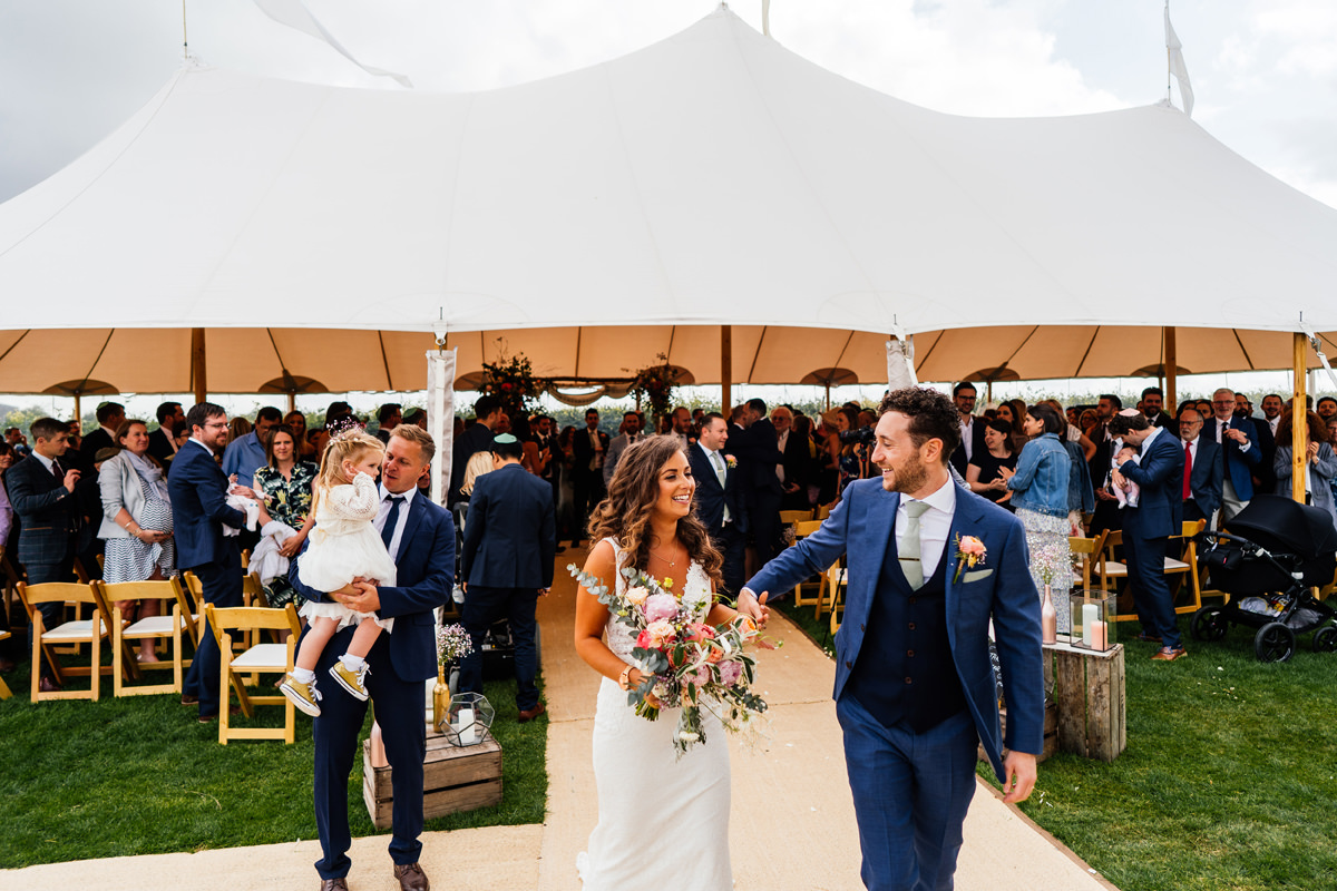 newly weds leave the sperry tent