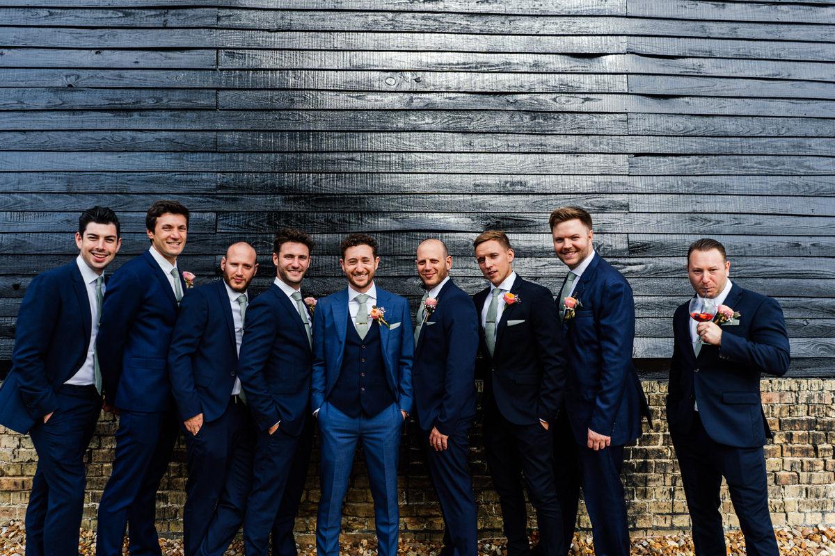 Groomsmen formal group photo