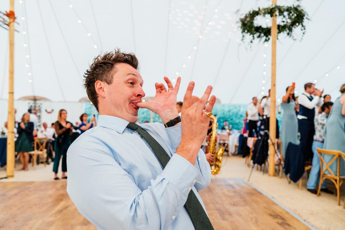 Guest having fun on the dance floor