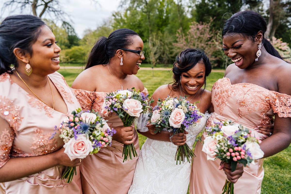 bridesmaids informal group photo