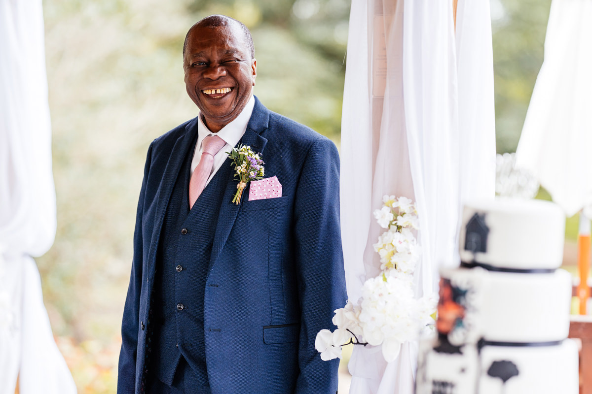 father of bride gives his speech