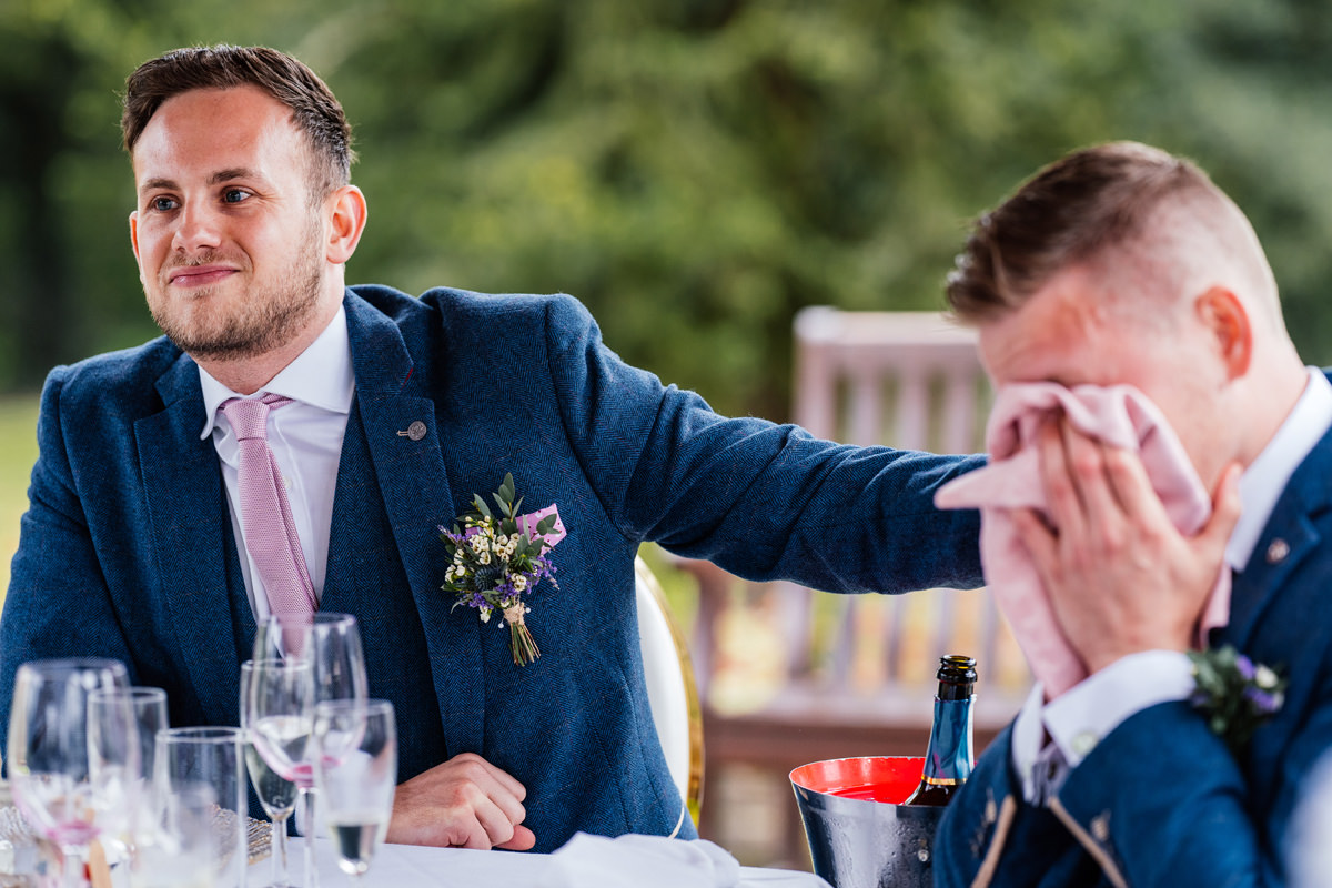 groom's brother crying during speech