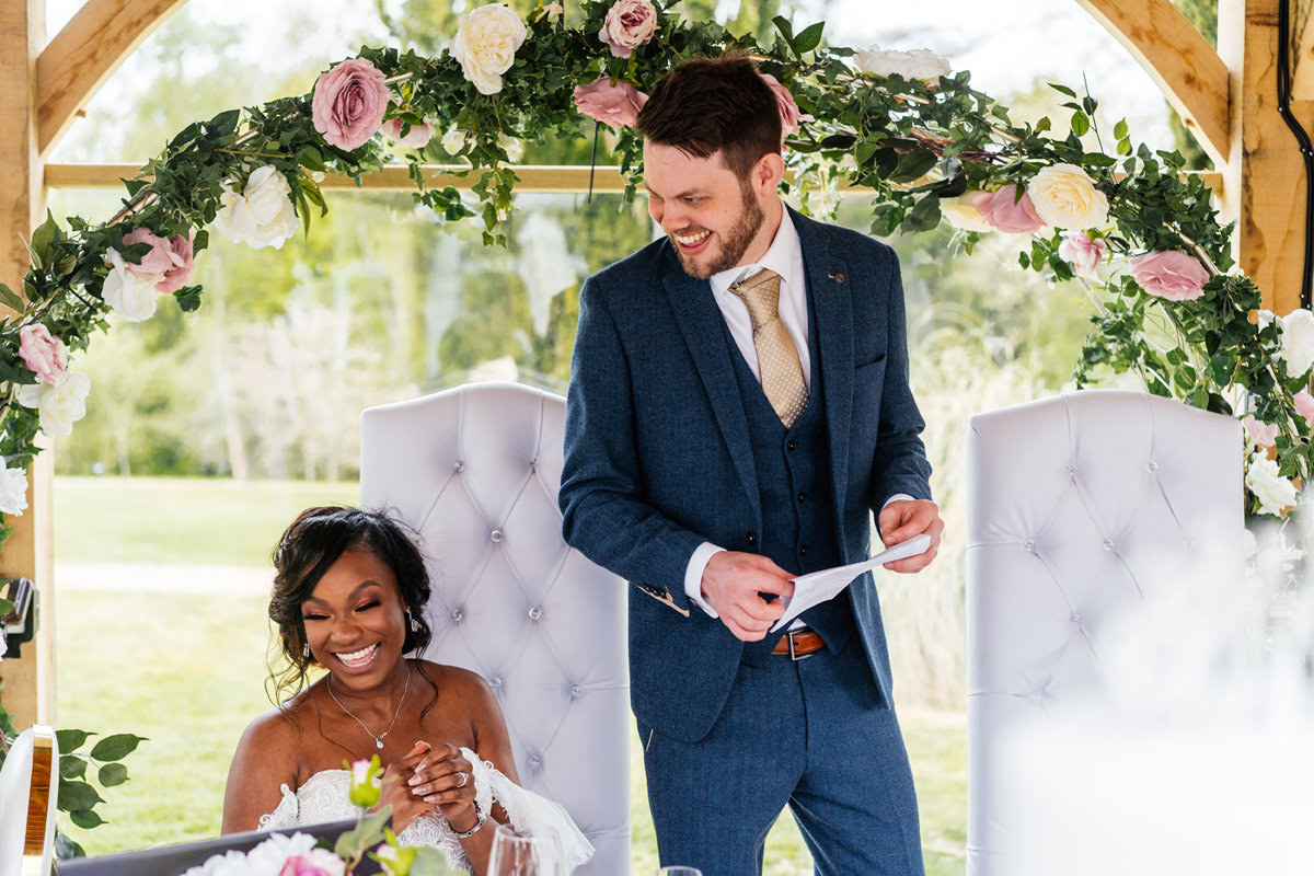 groom give his wedding speech