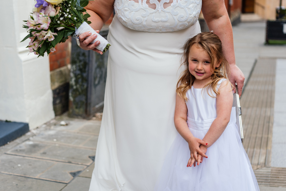 Flower girl with Bride